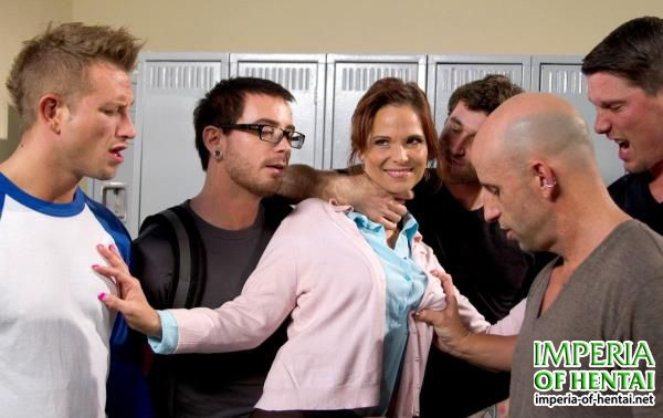 Syren de Mer - Hot MILF Teacher with Giant Tits Gangbanged by Students! Double Anal! (2012/HardcoreGangBang.com/Kink.com/SD)